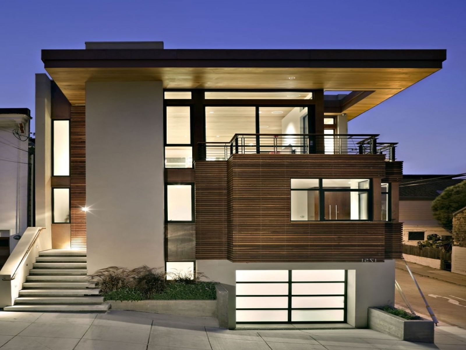 Modern Minimalist House. Beautiful Exterior Design For