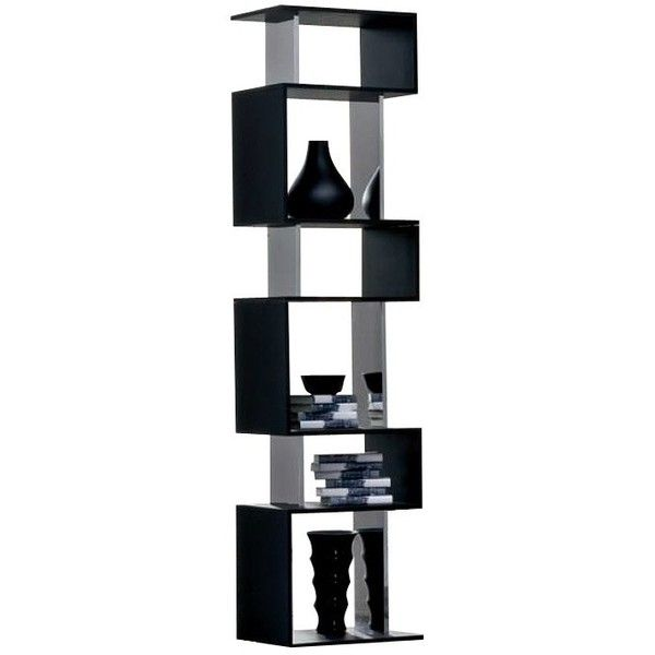 Osuna Bookshelf black ($960) ❤ liked on Polyvore featuring home, furniture, storage & shelves, bookcases, book-shelf, black bookshelf, book shelves, book-case and black book case