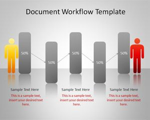 document workflow powerpoint template free presentation template to