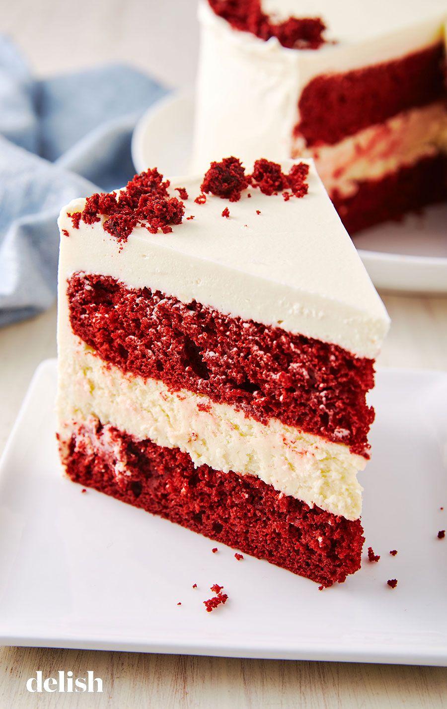 Red Velvet Cheesecake Cake Is The Ultimate Christmas Dessert Recipe Cheesecake Cake Recipes Velvet Cake Recipes Red Velvet Cake Recipe
