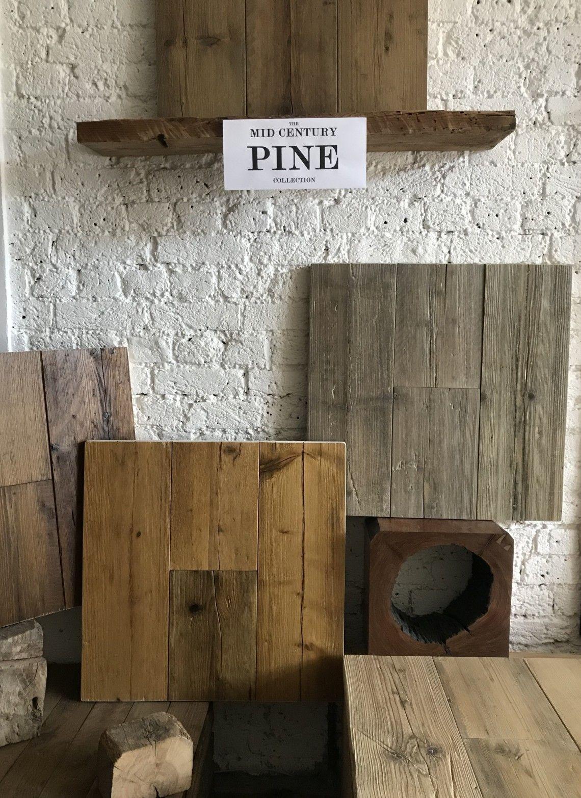 Mid Century Pine Preston Reclaimed Wood Flooring, Solid