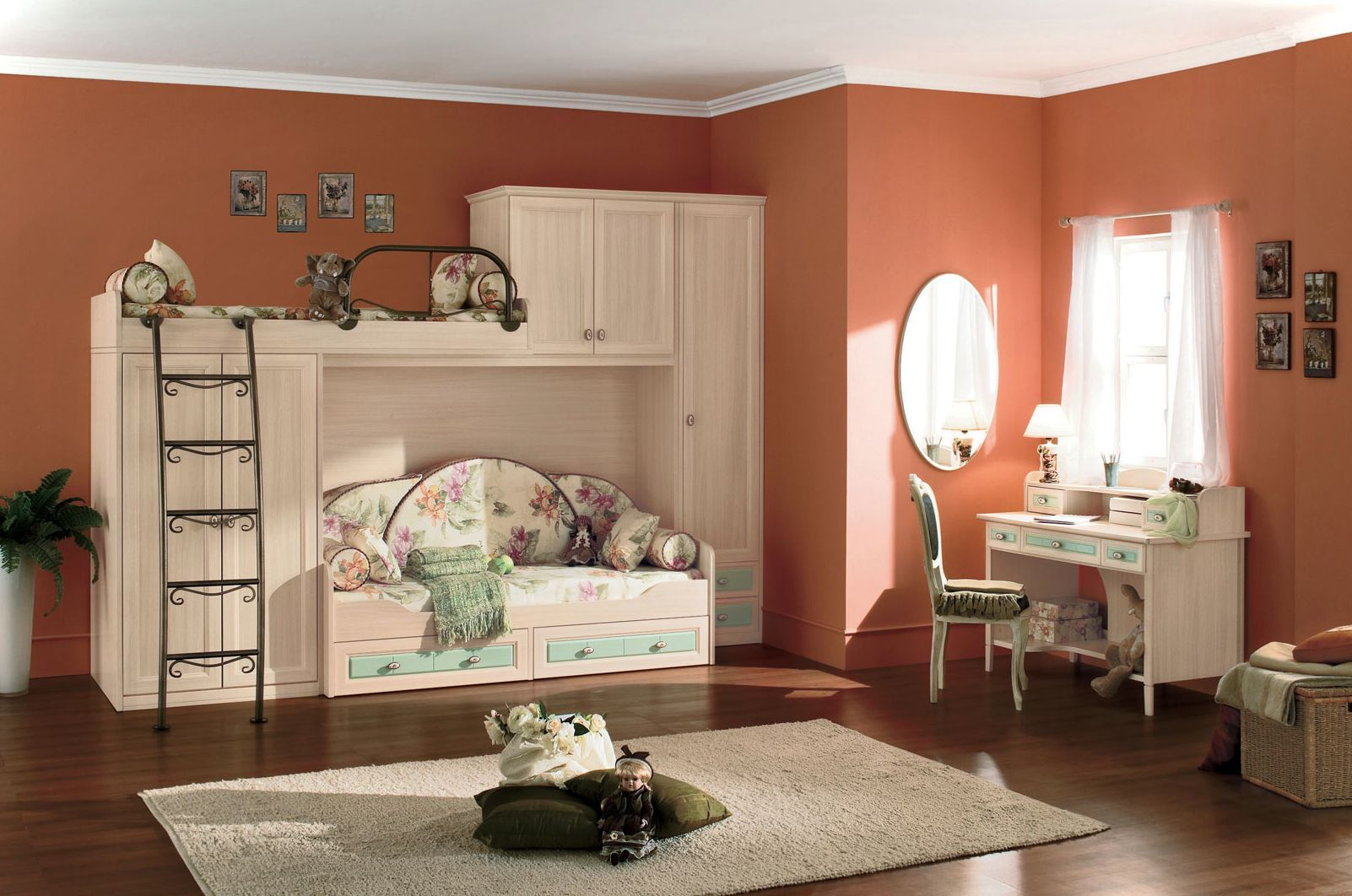 gorgeous tween girl bedroom idea with red wall color and on wonderful ideas of bunk beds for your kids bedroom id=34126