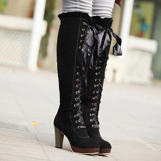 1ccf5cdb8523 Japanese kawaii bowknot boots from Fashion Kawaii  Japan   Korea  in ...