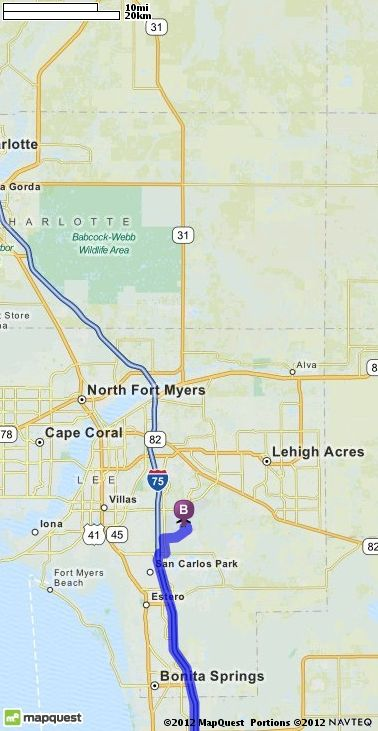 Driving Directions from 1178 Breakwater Ct Marco Island Florida