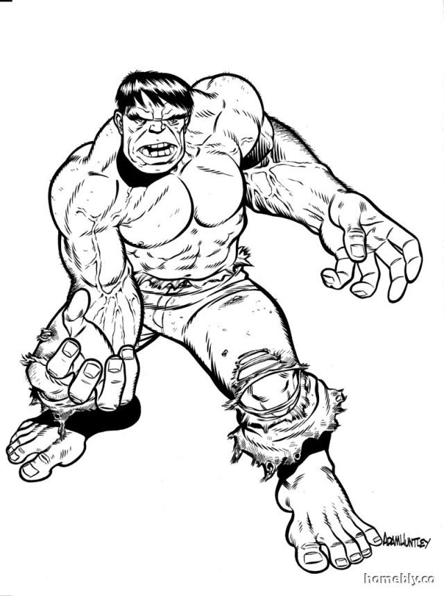 Free Hulk Coloring Pages For Kids