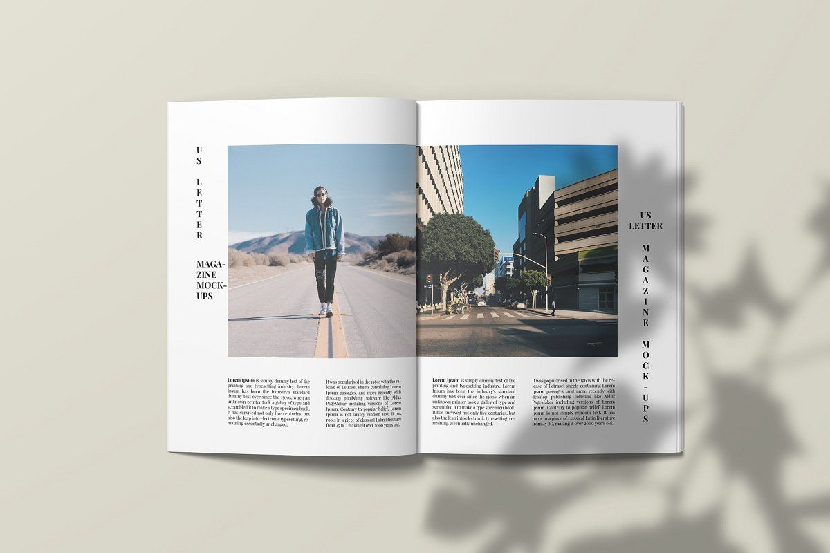 Download A4 Zine Mockup Yellow Images