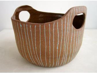 Stoneware basket by Paula Greif