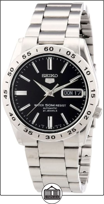 Seiko SNKE01K1 - Reloj analógico de caballero automático con correa de acero inoxidable plateada - sumergible a 50 metros de  ✿ Relojes para hombre - (Gama media/alta) ✿