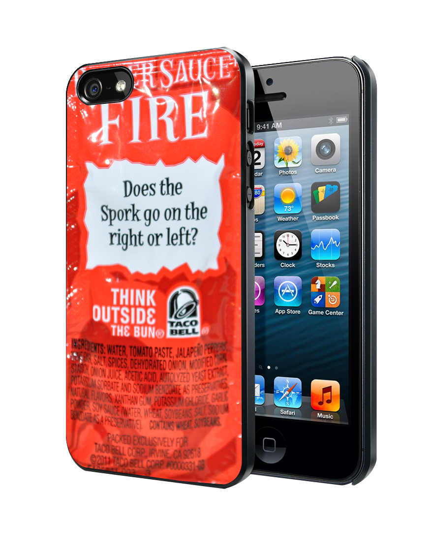 Taco Bell Sauce Fire Samsung Galaxy S3 S4 S5 Note 3 , iPhone 4 5 5c 6 Plus , iPod 4 5 case
