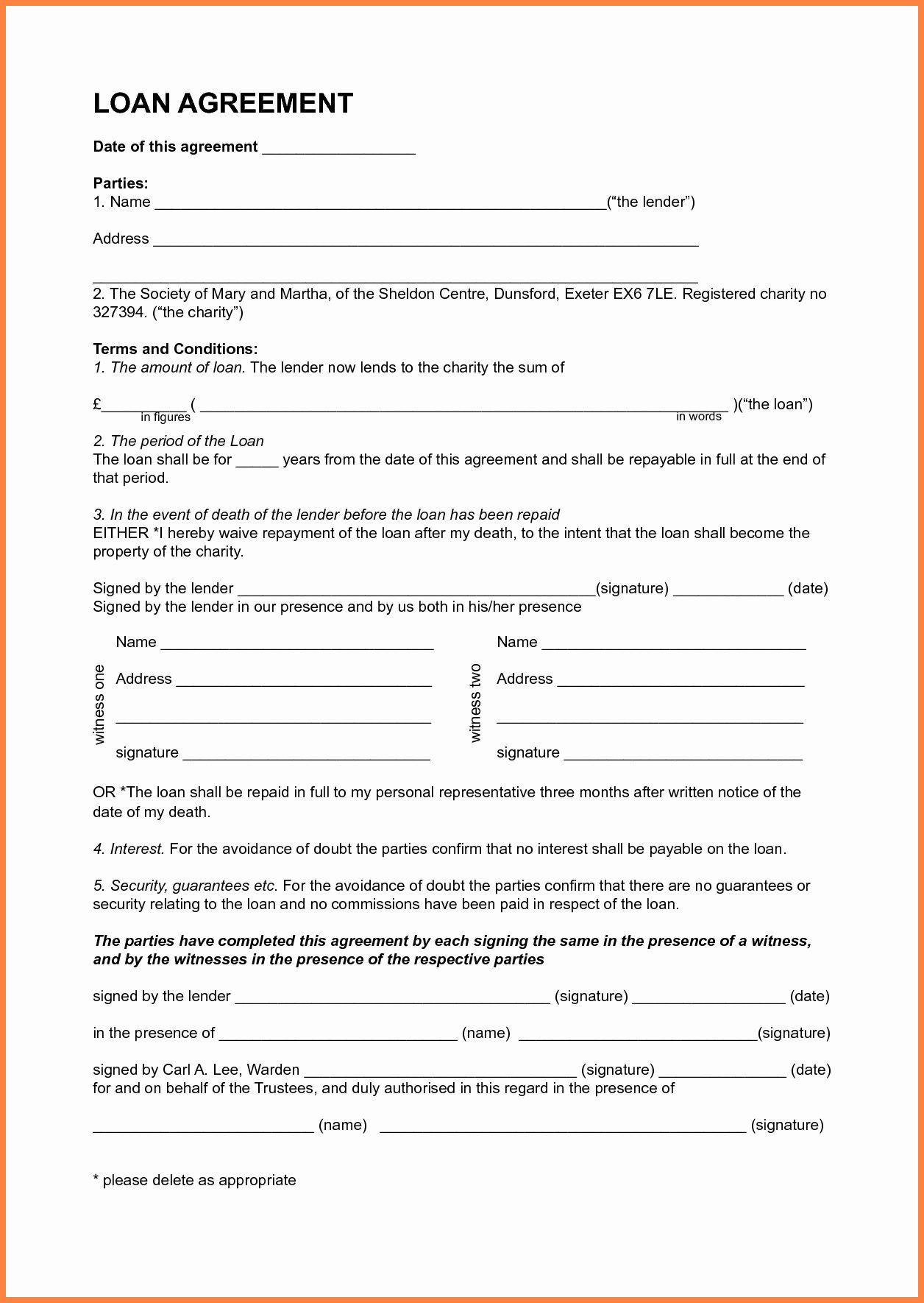 You can find a template agreement specifically for lending to friends or. Personal Loan Agreement Template New 7 Template Loan Agreement Between Family Members Personal Loans Contract Template Loan
