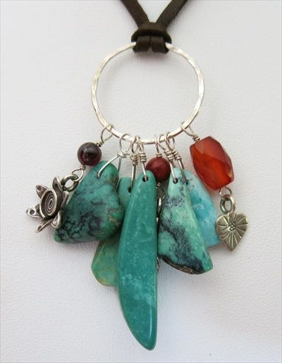 Turquoise necklace,  made with (RARE) Nevada turquoise