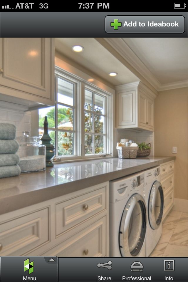 10x10 Laundry Room Layout: Laundry Room. Love How Much Counter Space This Has