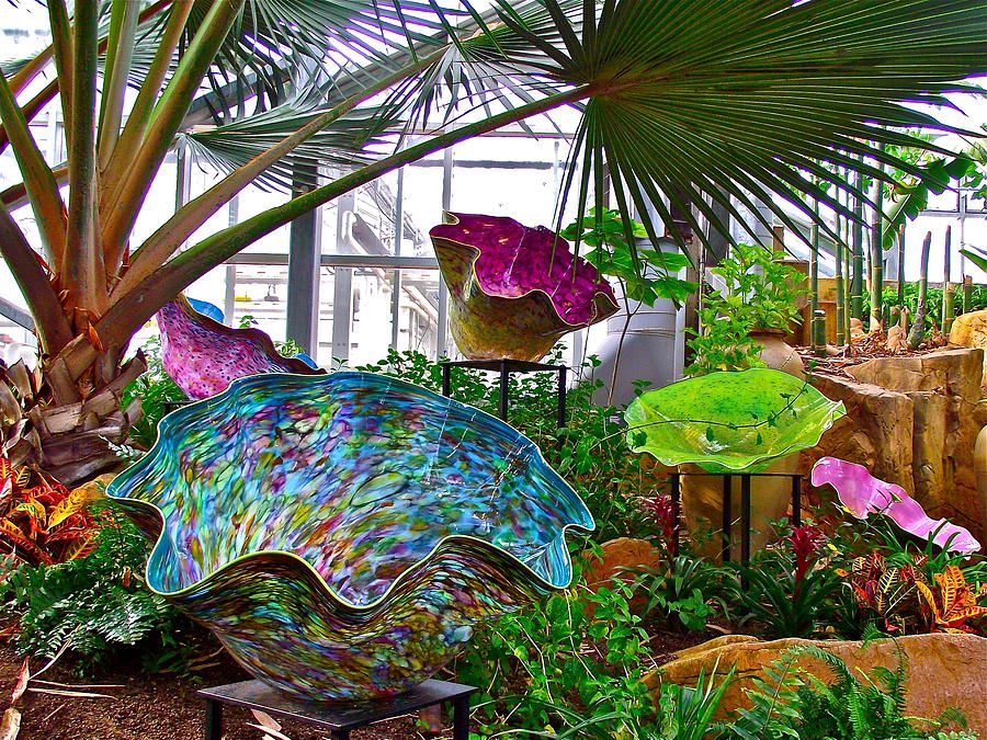 Basket Forest By Dale Chihuly In Meijer Gardens Photograph