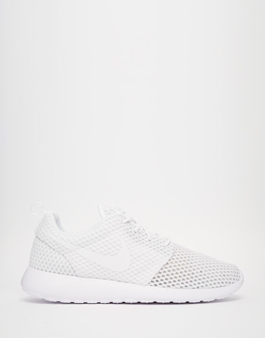 pretty nice e6fc2 79c96 ALL WHITE EVERYTHING Nike Roshe BR Trainers