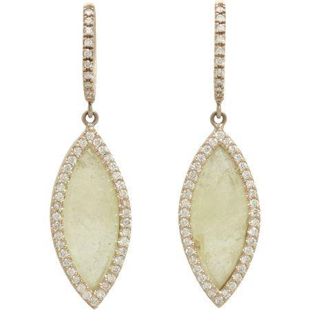 Monique Péan Atelier Grey Sapphire & Pave Diamond Navette Drop Earrings at Barneys.com