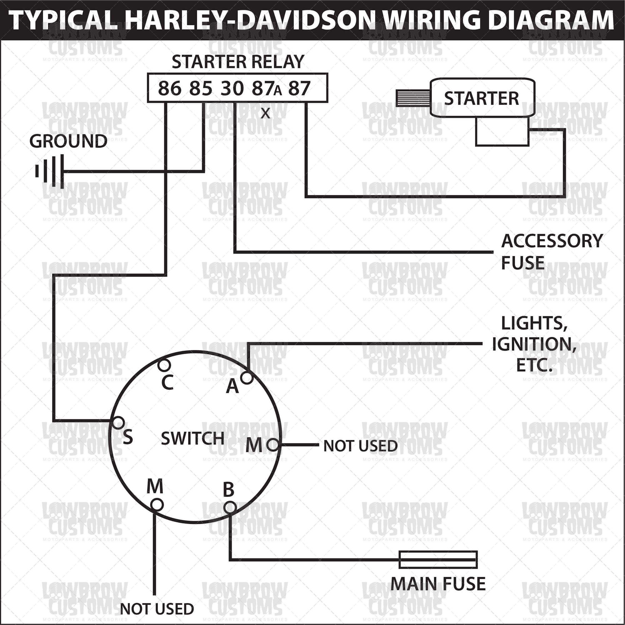 Starter Switch Wiring Diagram Hd Motorcycle