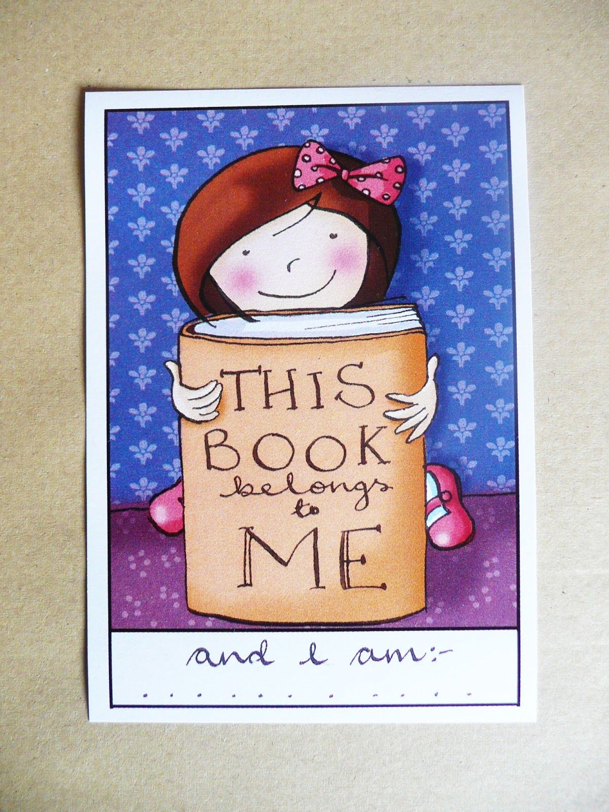 FREE design bookplate printables.... so cute!! (With