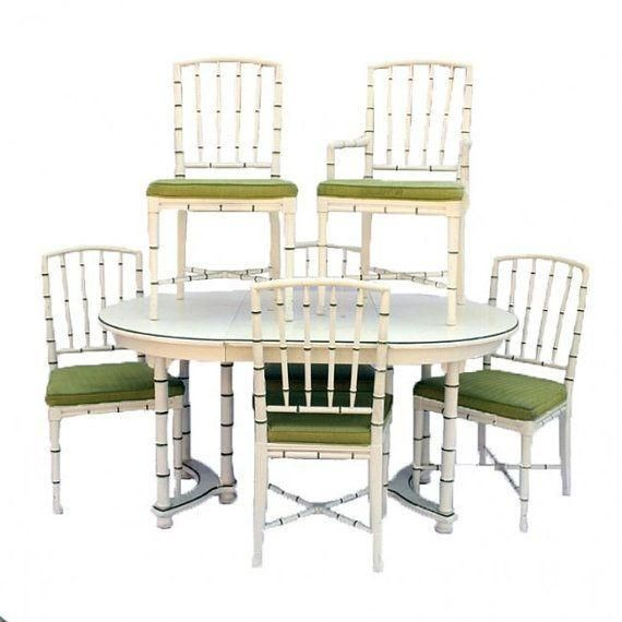 Drexel Faux Bamboo Dining Table With Six Chairs On Chairish Captivating Drexel Dining Room Furniture Inspiration
