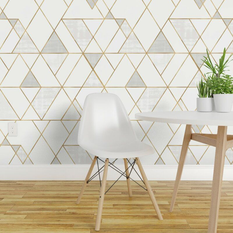 Clarkson Geometric Removable Peel And Stick Wallpaper Panel Geometric Removable Wallpaper Wallpaper Accent Wall Removable Wallpaper
