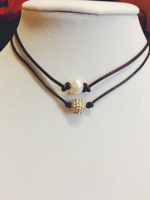 Brown Pearl and Pave Ball Rope Necklace Set by MadisonMillerBeads, $30.00