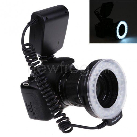 Commlite Macro 48LED Ring Flash Light for Canon 49/52/55/58/62/67/72/77mm