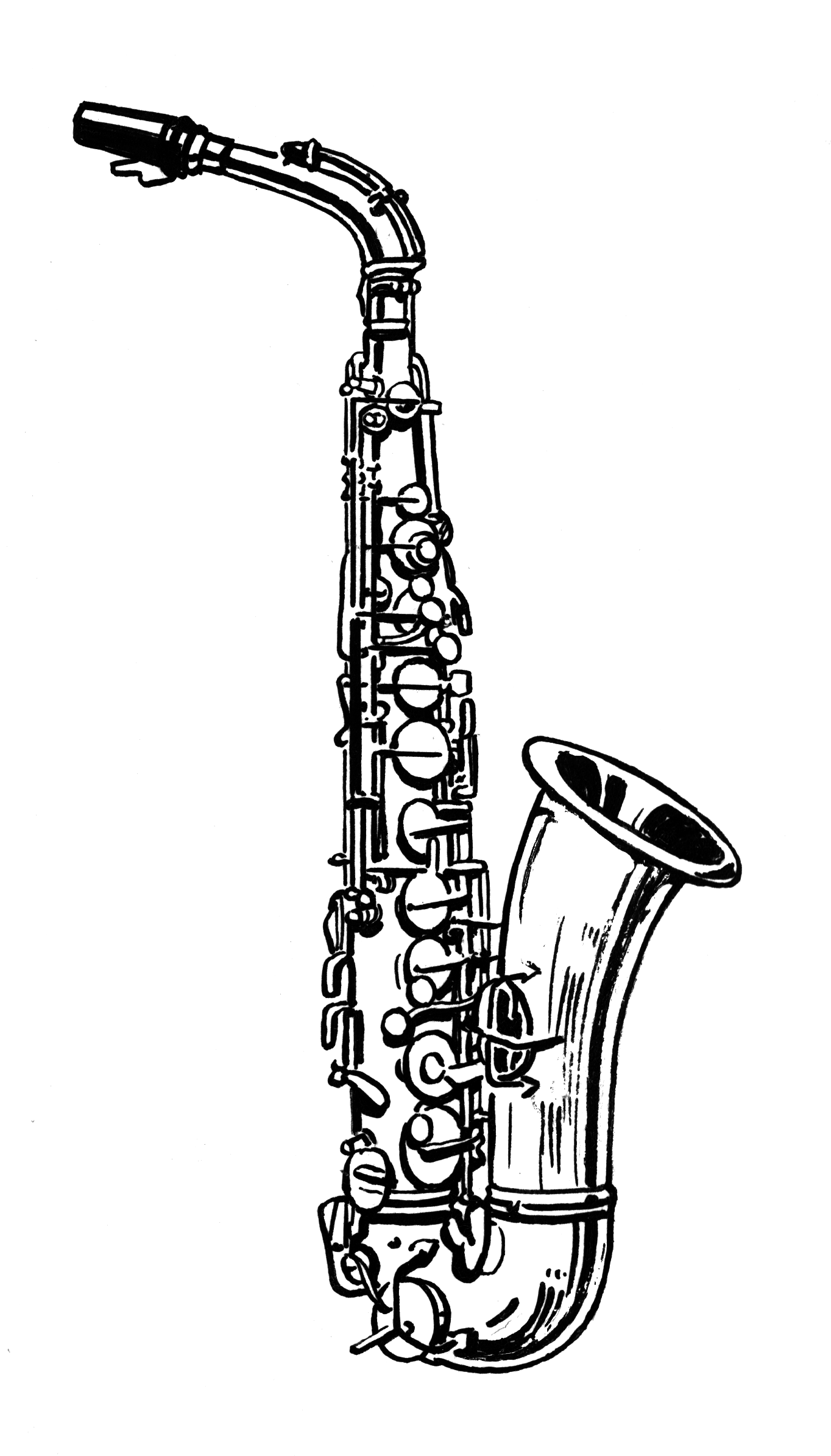 234319eb5 Photos Of Sax Clip Art | Sewing - EMBR Line Art in 2019 | Music ...