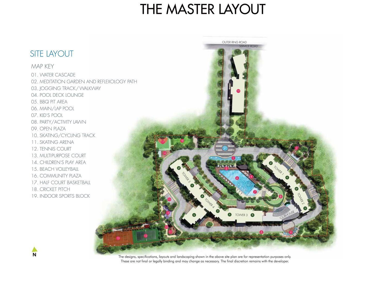 Equinox Waters Edge Layout Plan Www Bangalore5 Com Meditation Garden Reflexology Path Kids Play Area