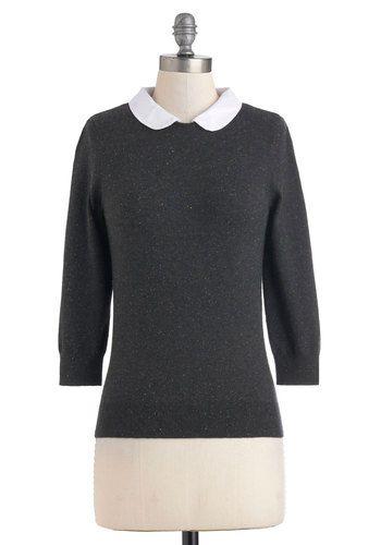 Confetti Confessions Sweater in Charcoal, #ModCloth