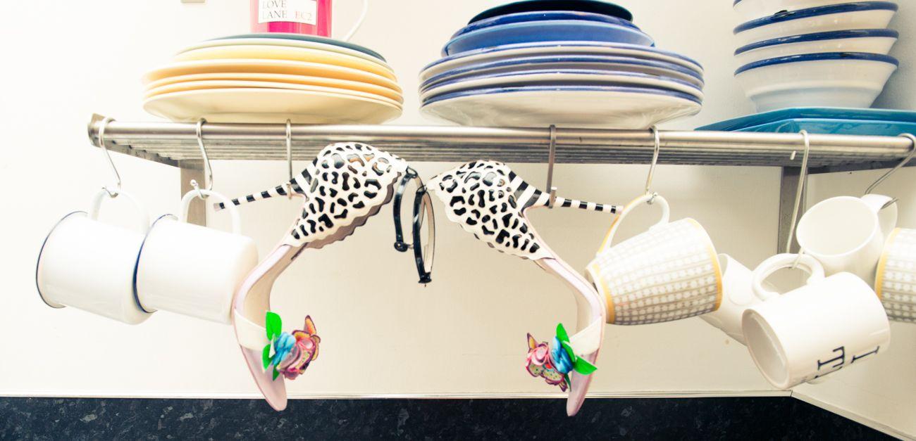Stilettos for Saturday's chores, of course. http://www.thecoveteur.com/angela-scanlon/