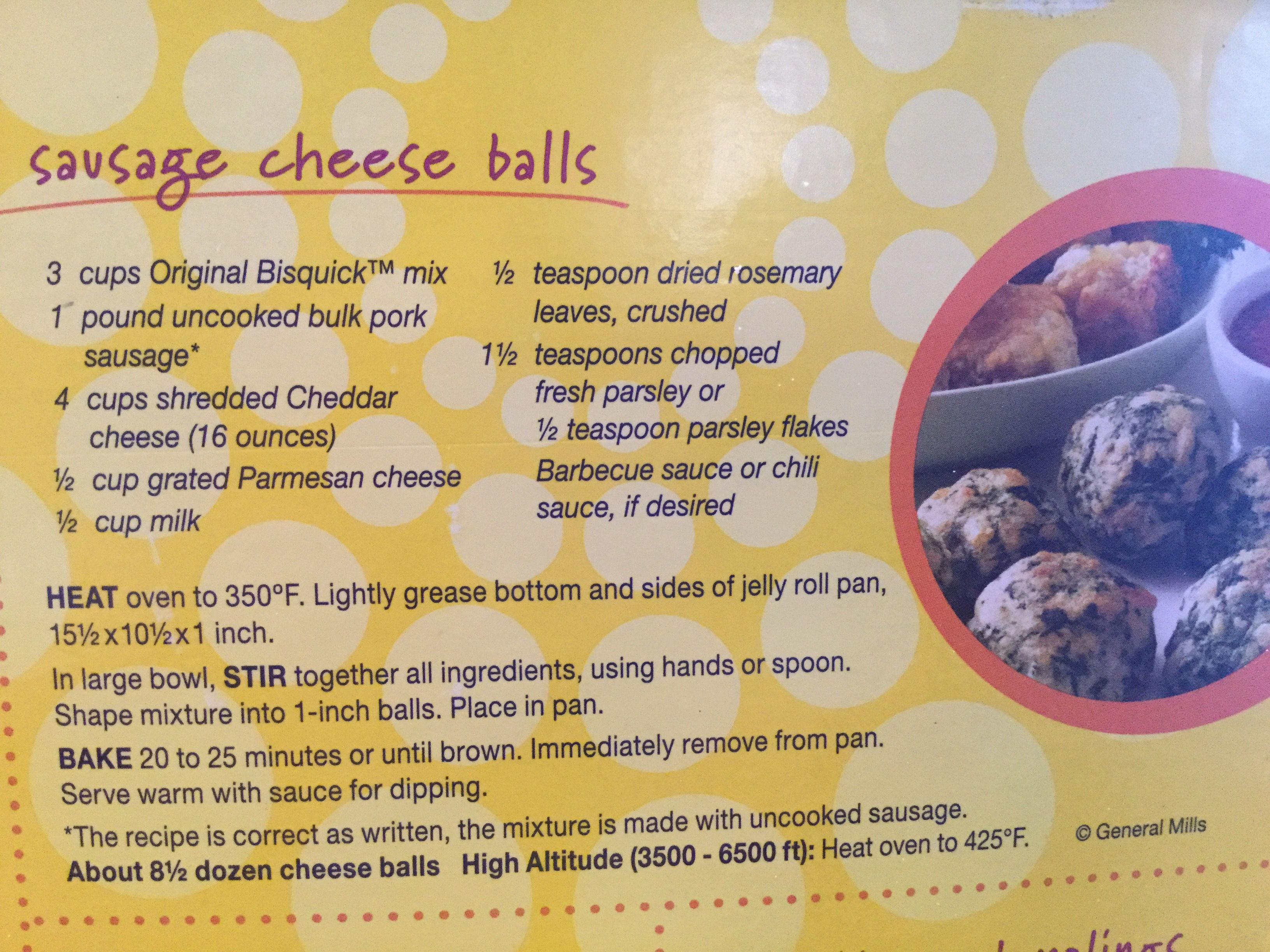 Original Bisquick Sausage Ball Recipe