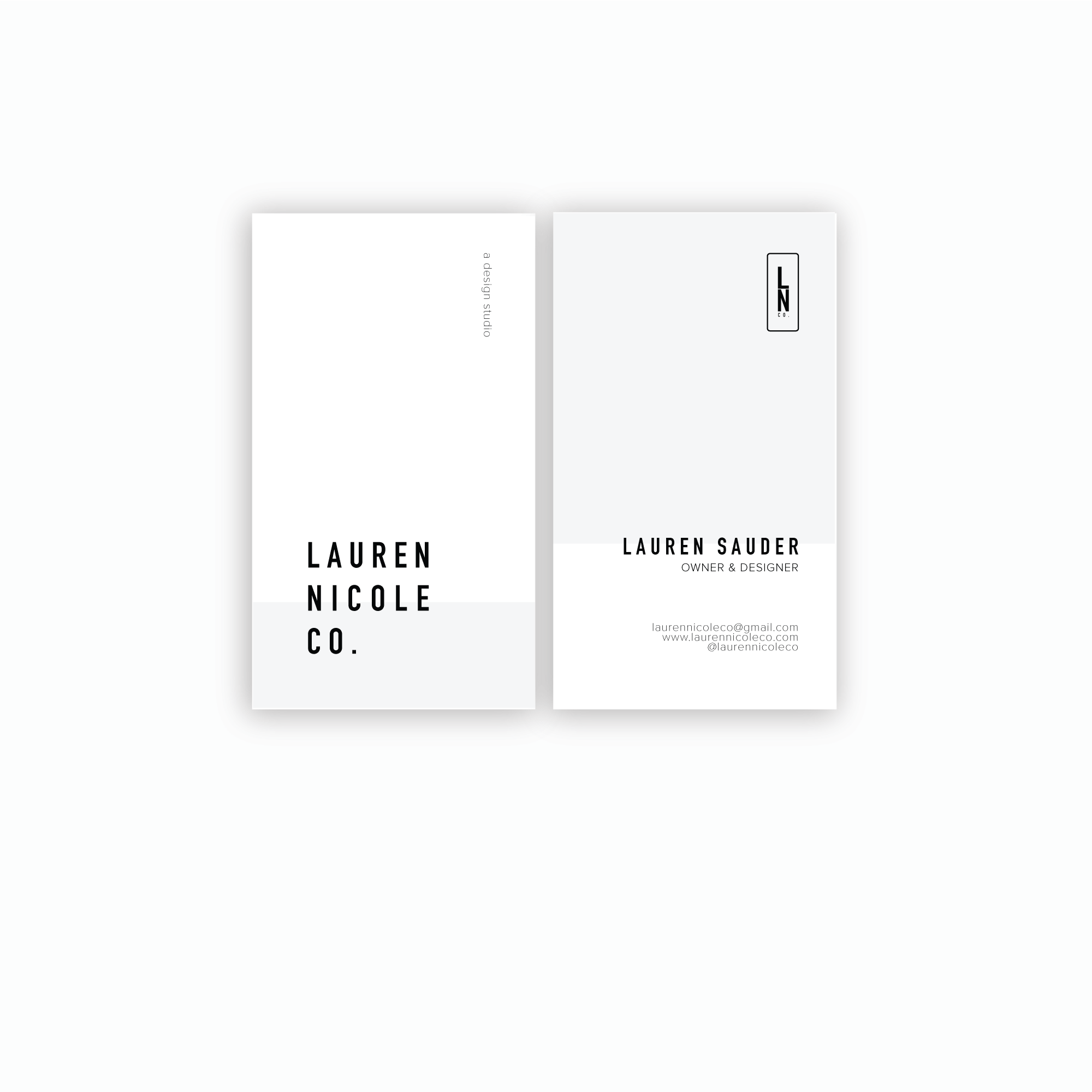 business cards created for lauren nicole co