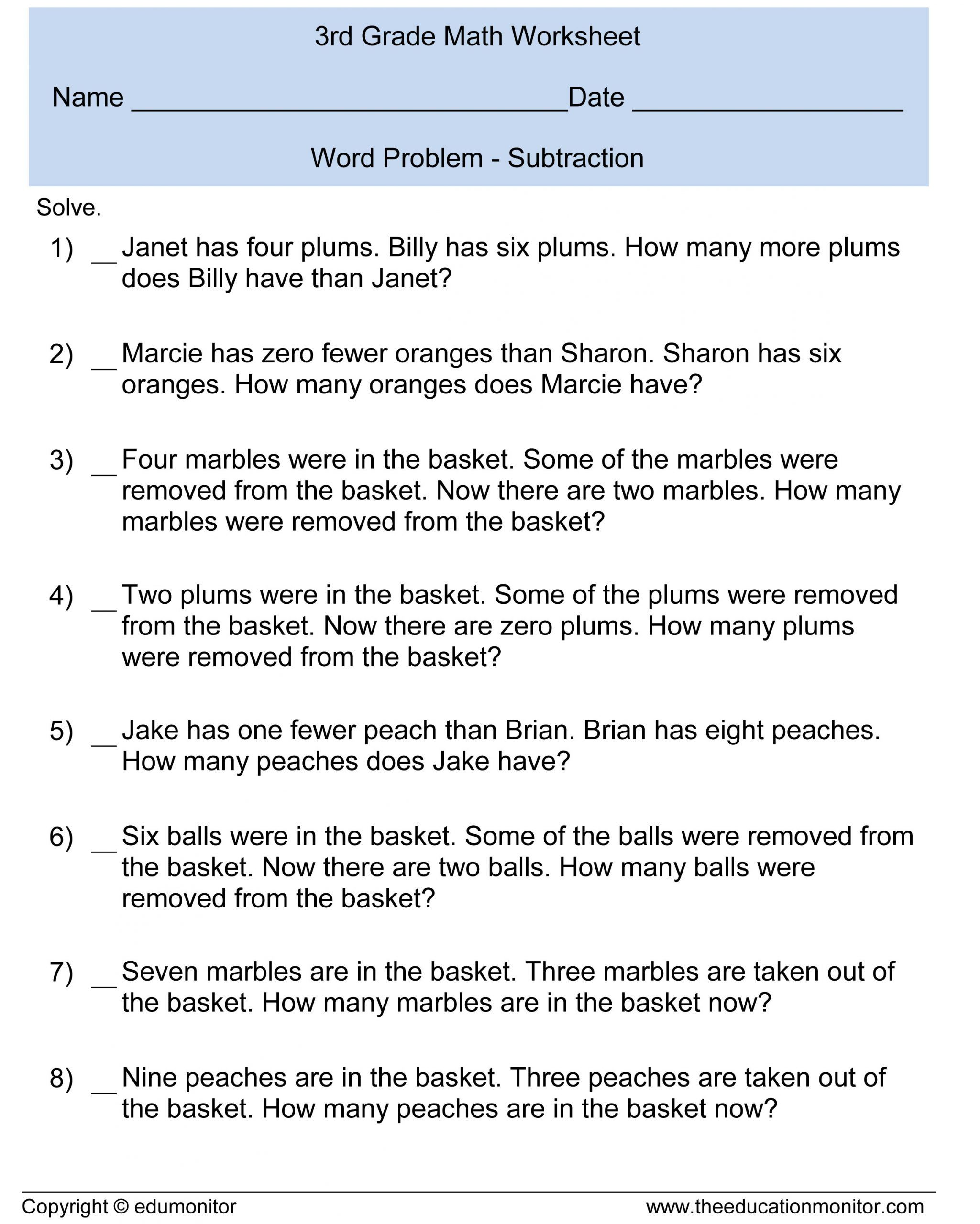 Word Problems Worksheets For Kindergarten Kindergarten