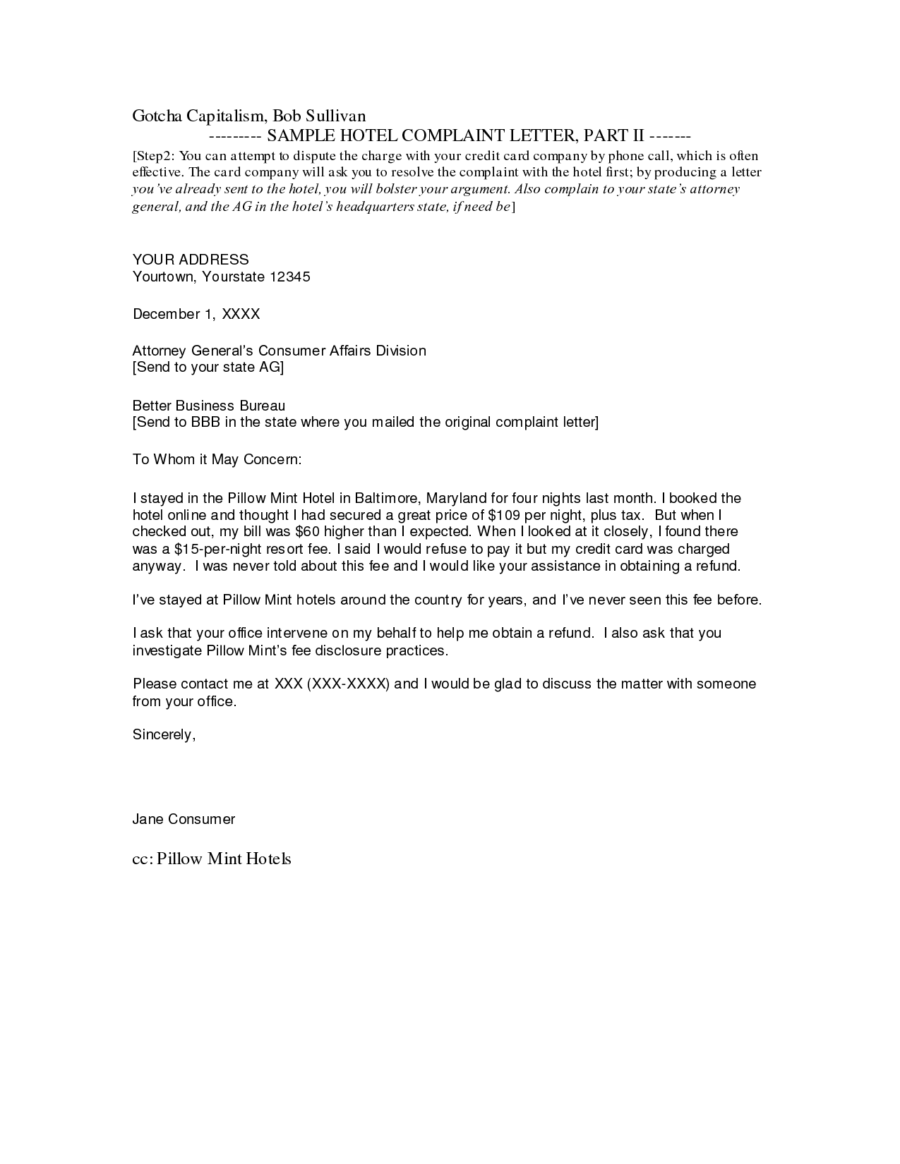 Photos Complaint Business Letter Format Received Your Sample Below