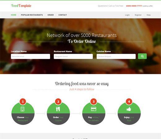 Food #Template a #Restaurant #Flat #Bootstrap #Responsive #websablon: http