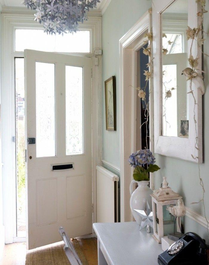 arredare corridoio stile country porta di ingresso colore