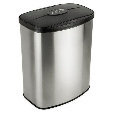2 1 Gallon Motion Sensor Wastebasket Kitchen Waste Trash Can Waste Basket