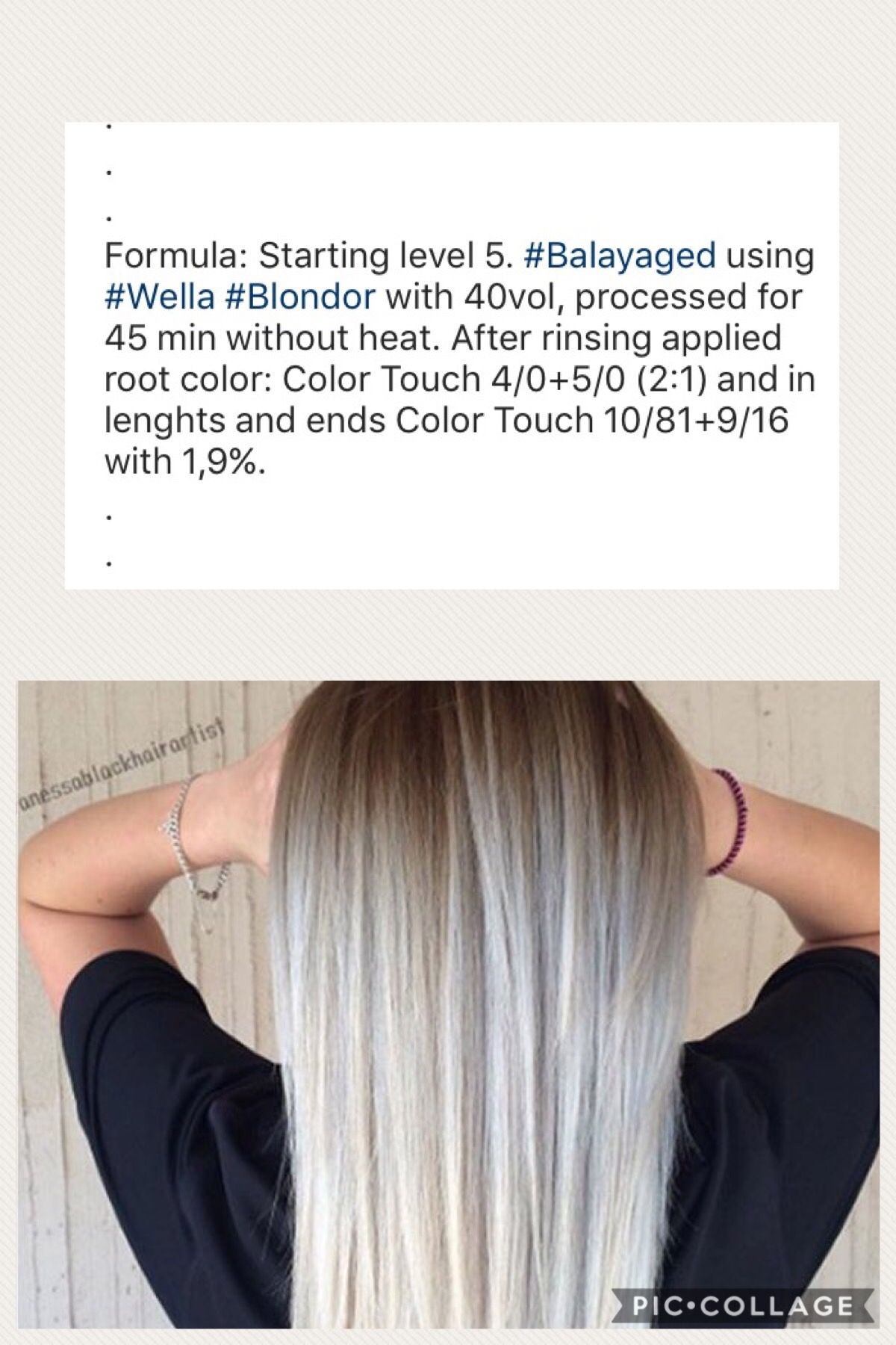 Pin By Cat Martis On Formula Wella Hair Color Hair Color Formulas Wella Hair