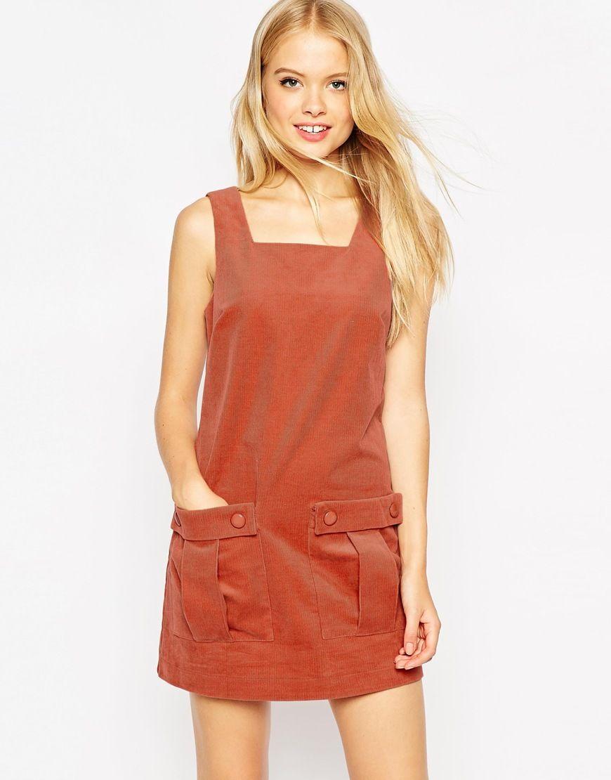 Image 1 of ASOS Cord Dungaree Dress   style   Pinterest   Salopettes ... 0354b5c530df