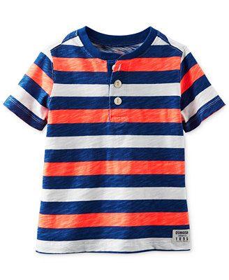 Osh Kosh Little Boys' Striped Henley