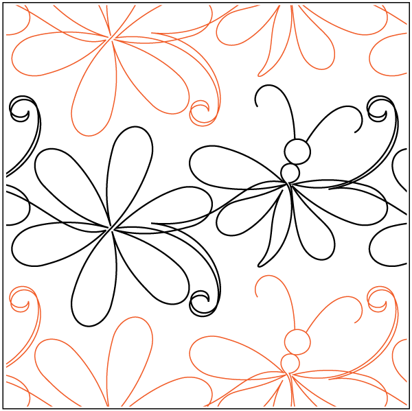 Simple Daisy And Dragonfly Pantograph Quilting Designs Patterns Machine Quilting Designs Free Motion Quilt Designs,Modern Scandinavian Design House