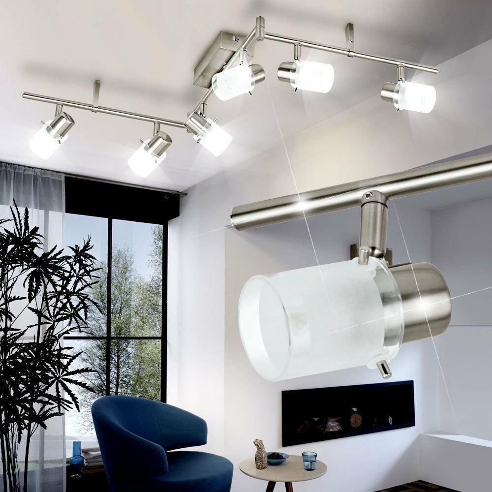 Led Design Decken Lampe Wohnzimmer Leuchte Chrom Strahler