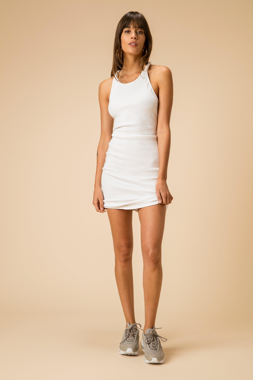 White Mini Dress Tank