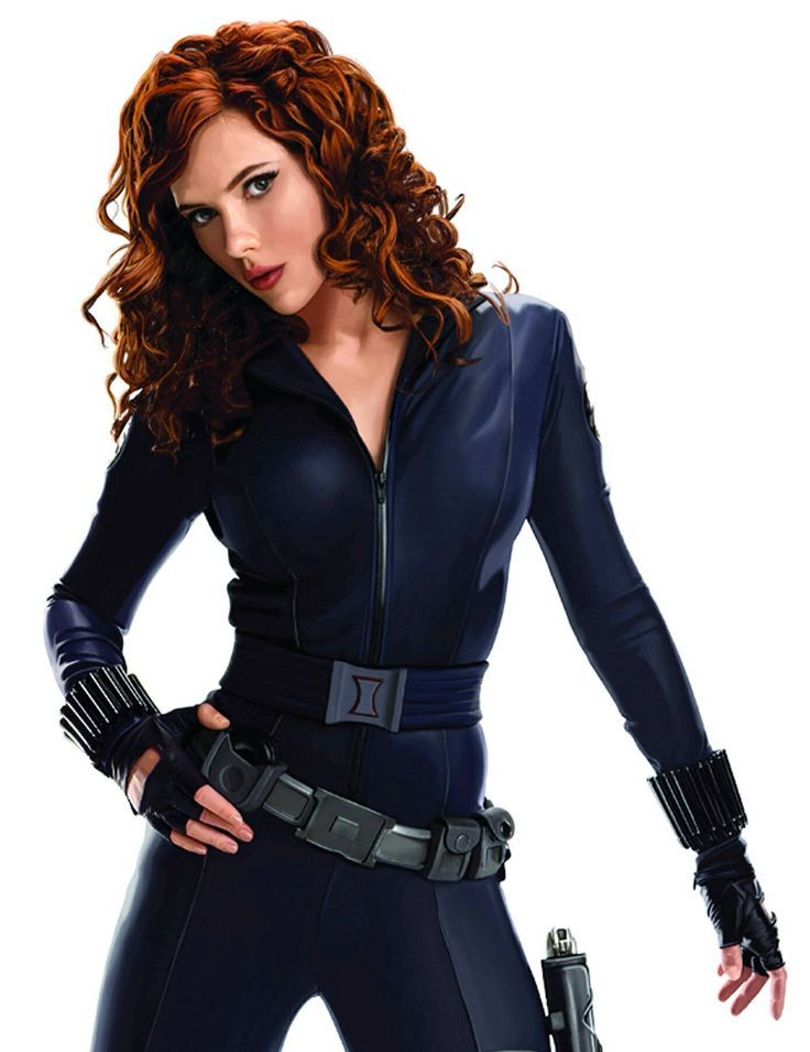 Women Scarlett Johansson actress Black Widow Iron Man black