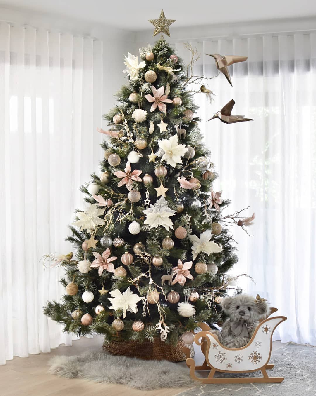 Bed Bath N Table On Instagram Promise Us You Won T Get Your Tinsel In A Tangle But Floral Christmas Tree Christmas Tree Inspiration Christmas Tree Flowers