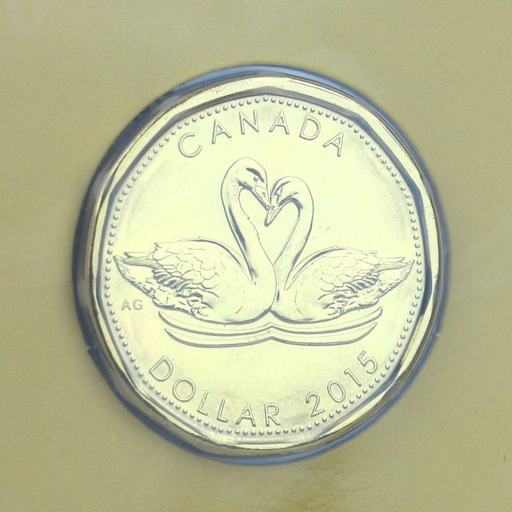 Canada 2015 Wedding Gift Mint Set Unique Swans Loonie 1 Coin Personalize Canadian Coins Celebration Of Life Coins