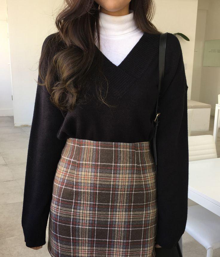 #korean Fashion #mit #Schlitz #seitlichem #Strickoberteil #u -  - #FASHION #korean #mit #Schlitz #seitlichem #Strickoberteil #wintergrunge
