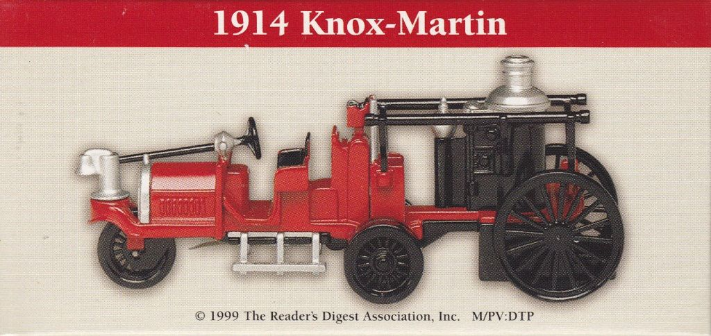 Fire Engine Miniture 1914 Knox-Martin Collectible Firetruck Readers Digest Promotional item from 1999 In Original Box by consignments on Etsy