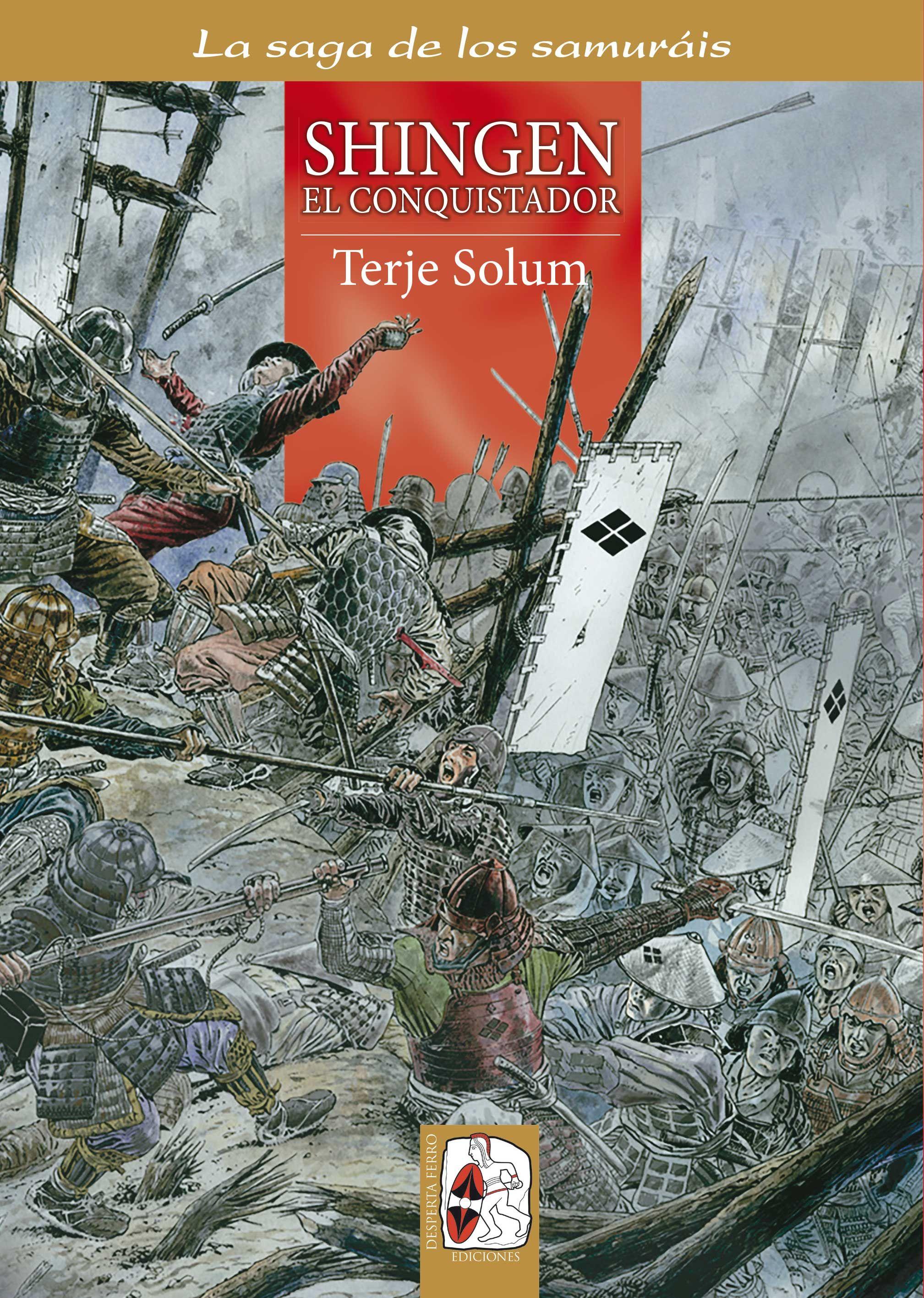 """Portada de """"Shingen el conquistador"""" (La saga de los samuráis, Vol. V), de Terje Solum y Dag R. Frognes. ® Dag R. Frognes"""