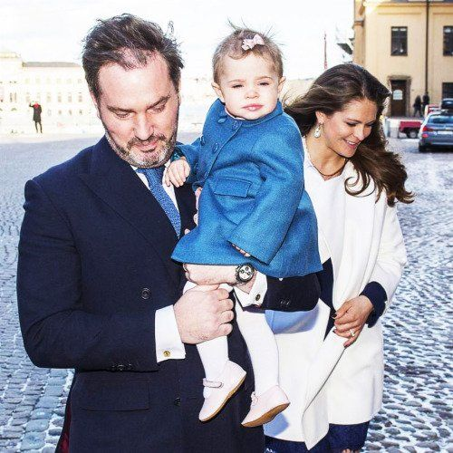 Crown Princess Victoria and Crown Prince Daniel of Sweden, King Carl Gustaf and Queen Silvia, Prince Carl Philip and Sofia Hellqvist, and Princess Madeleine and Christopher O'Neill, Princesses Estelle and Leonore