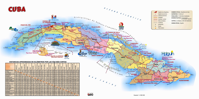 Mapa turistico de Cuba Cuba Pinterest